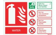 SV101L - SELF-ADHESIVE LANDSCAPE WATER EXTINGUISHER IDENTIFICATION SIGN